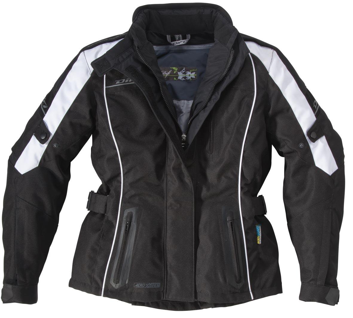Veste Moto Femme Xenia Aerotex Noir et Blanc DIFI