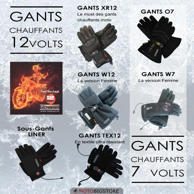 Les gants chauffants moto de GERBING