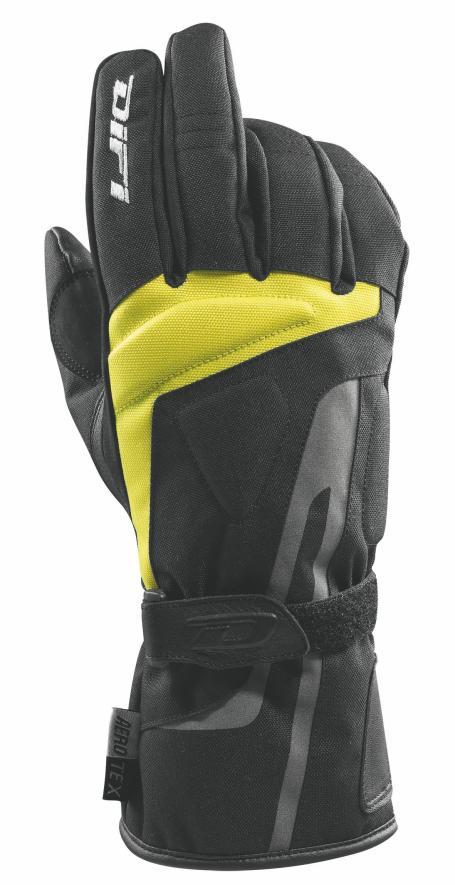GANTS MOTOS Brick AX noir jaune, Difi  motobigstore