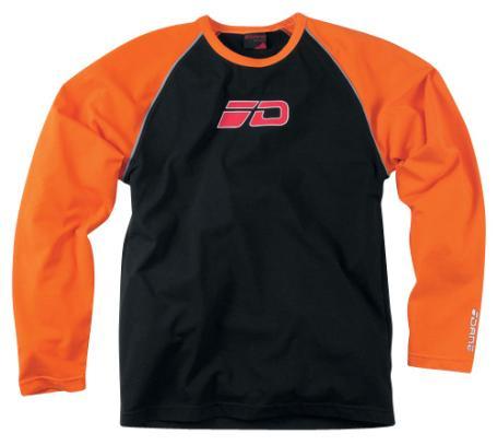 T-SHIRT marque DANE manches longues couleur Noir&Orange motobigstore