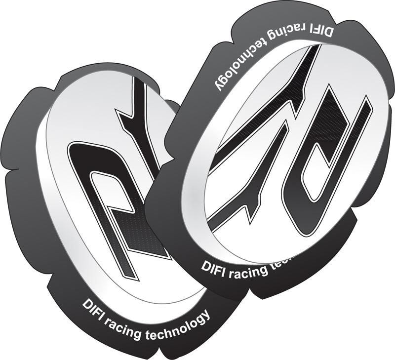 SLIDER Genoux - Kit Impact - DIFI - Blanc motobigstore