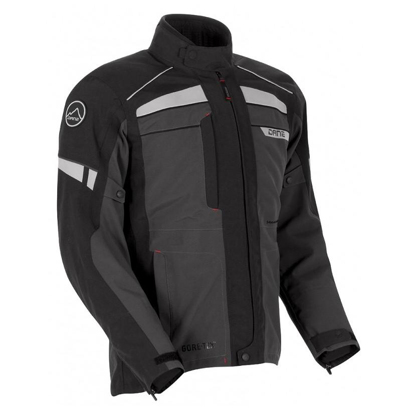 Blouson Moto Nysted Gore-tex gris/noir - DANE