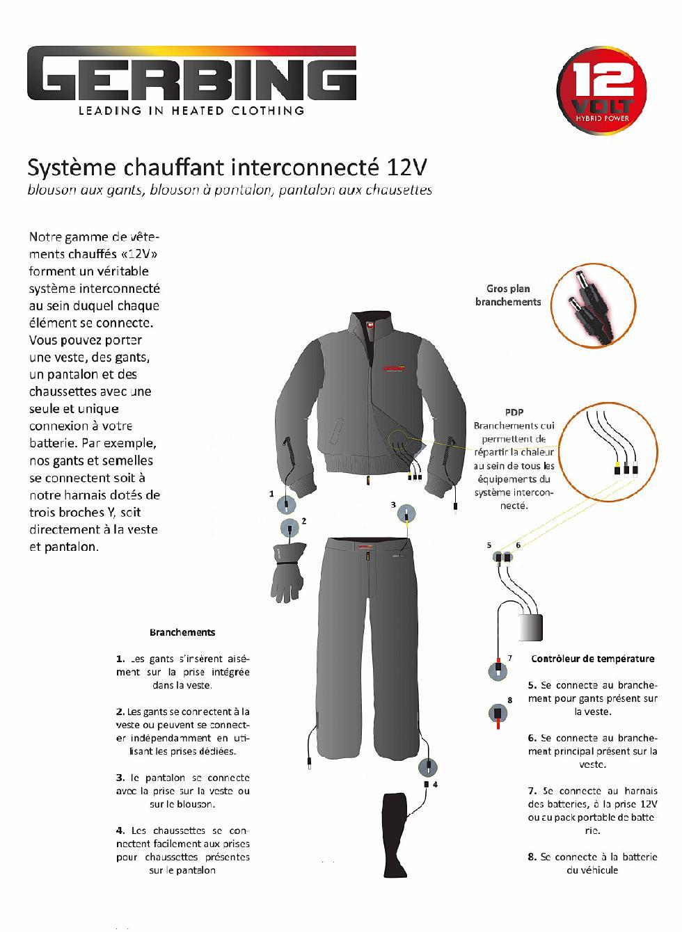 Chaussettes chauffantes GERBING Unisexe - 12 VOLT - S12 - Image 1