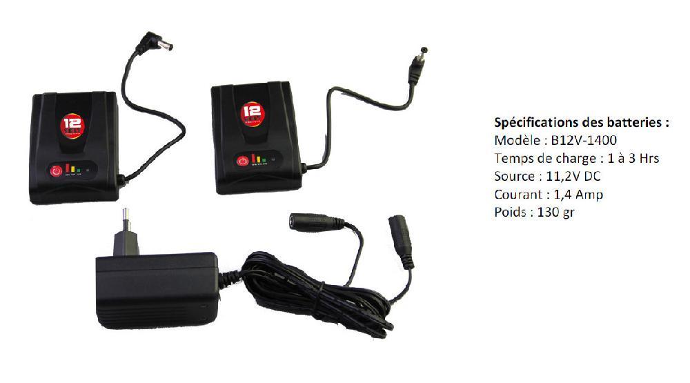 Kit Batteries - GERBING - 12Volt, 1.4 Ampère motobigstore