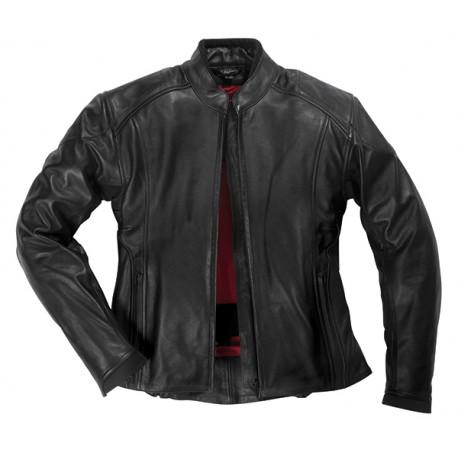 Veste moto femme en cuir PICA Noir, DIFI
