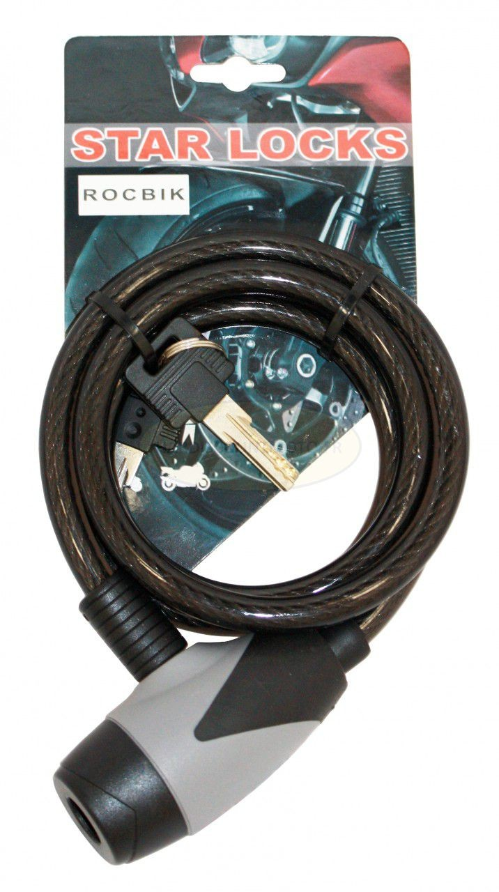 Antivol Cable 10x1200mm Fumé motobigstore